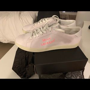 Saint Laurent Sneakers in Optic White/Pink 44 new